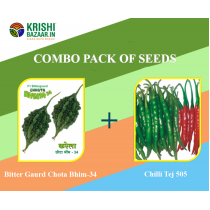 Combo Pack of Seeds (Bitter Gourd and Chilli Tej)