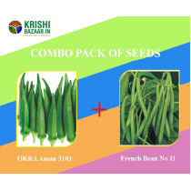 Combo Pack of Seeds (OKRA Aman & French Bean)